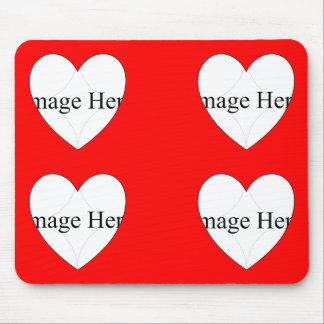 4 Foto Herz-Formen Mousepad