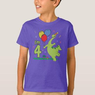 4. Geburtstag Dino T-Shirt