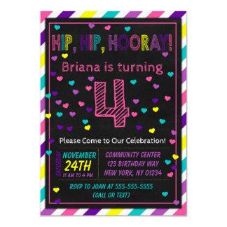 4. Geburtstags-Einladung für ein Karte