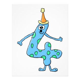 4. Geburtstags-Karikatur Flyerbedruckung