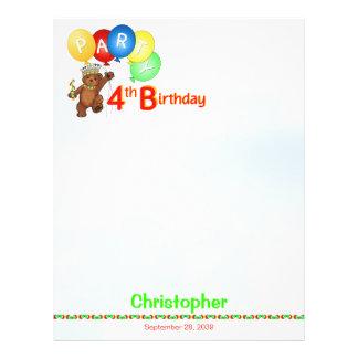 4. Geburtstags-Party-königliches 21,6 X 27,9 Cm Flyer