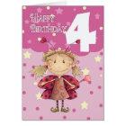 4. Geburtstagskarte mit niedlicher Marienkäferfee Karte