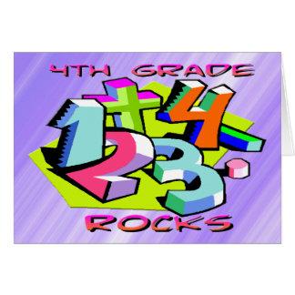 4. Grad-Felsen - Zahlen Grußkarte