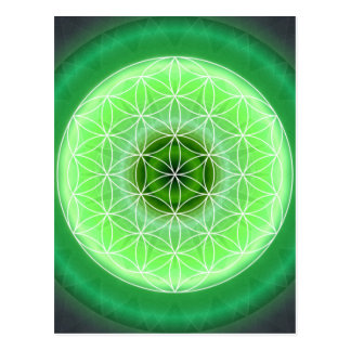 4 Herz chakra Grün geschaffen durch Tutti Postkarte
