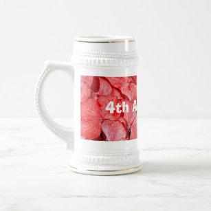 4 Hochzeitstag | 4 Hochzeitstag Bierkruge Glaser Zazzle De