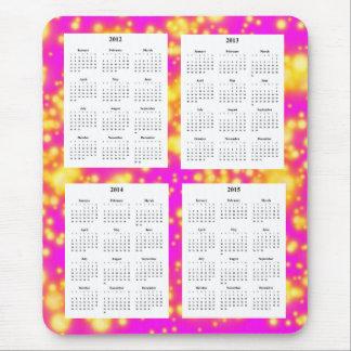 4-jähriger Kalender (2012-2015) auf rosa Funken Mauspads