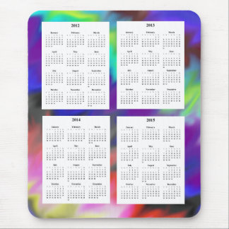 4-jähriger Kalender (2012-2015) Mousepad
