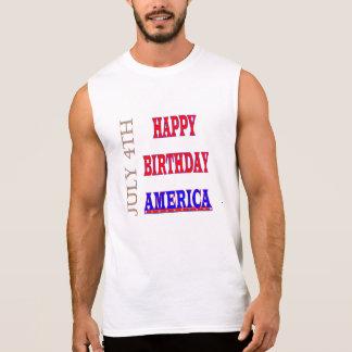 4. Juli alles Gute zum Geburtstag Amerika Ärmelloses Shirt