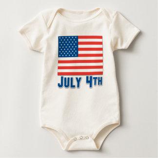 4. Juli amerikanische Flagge Baby Strampler