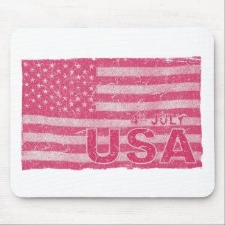 4. Juli amerikanische Flaggen-Unabhängigkeits-Tag Mousepad