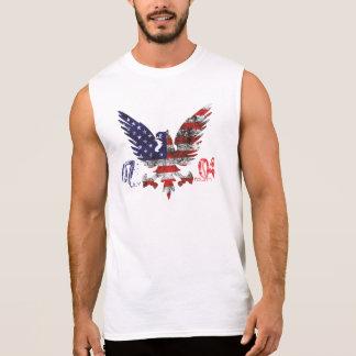 4. Juli amerikanischer Adlerentwurf für ihn! Ärmelloses Shirt
