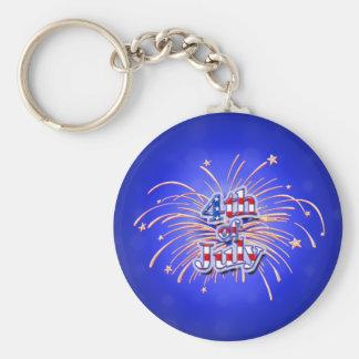 4. Juli Feuerwerks-Sterne Keychain Schlüsselanhänger