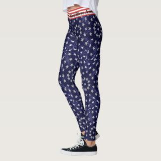 4. Juli GAMASCHEN amerikanische Flagge Ihre WÖRTER Leggings