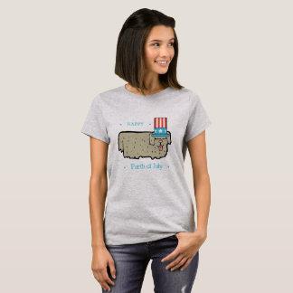 4. Juli Hundeliebhaber-lustiges Shirt GLÜCKLICHES