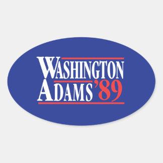 4. Juli Kampagnen-Autoaufkleber Washingtons Adams Ovaler Aufkleber