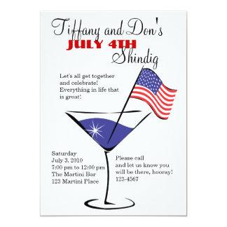 4. Juli MartiniShindig! 12,7 X 17,8 Cm Einladungskarte