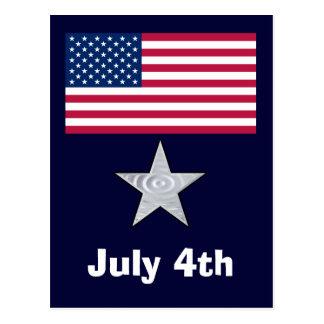4. Juli Unabhängigkeitstag-Flagge-Postkarte Postkarte