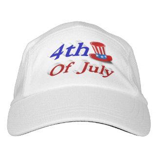 4. Juli-Uncle Sam 3D des Leistungs-Hutes Headsweats Kappe