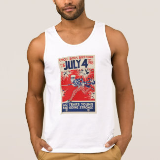 4. Juli Uncle Sam Propaganda Geburtstags-WWI Tank Top