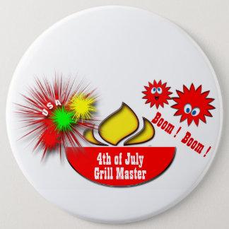 4. Juli USA Runder Button 15,3 Cm