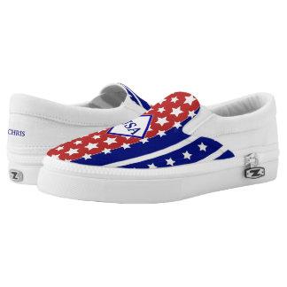 4. Juli USA-Unabhängigkeits-Sterne u. Streifen Slip-On Sneaker