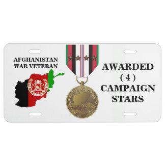 4 KAMPAGNEN-STERN-AFGHANISTAN-KRIEGSVETERAN US NUMMERNSCHILD