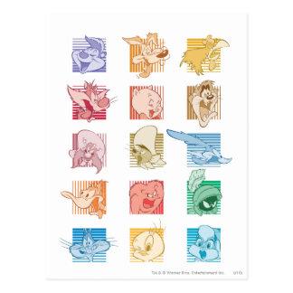# 4 Looney Melodien-Foto OP Postkarte