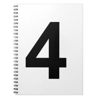 4 - Nr. vier Notizblock