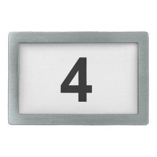 4 - Nr. vier Rechteckige Gürtelschnalle