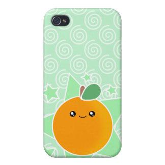4 Orangen-Frucht Kawaii Etui Fürs iPhone 4