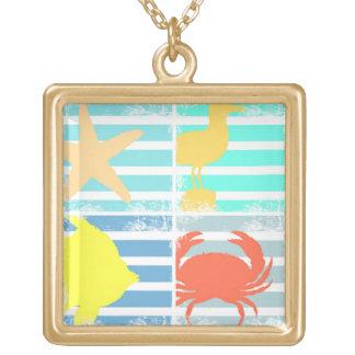 4 Ozean-Entwurfs-Quadrate Vergoldete Kette