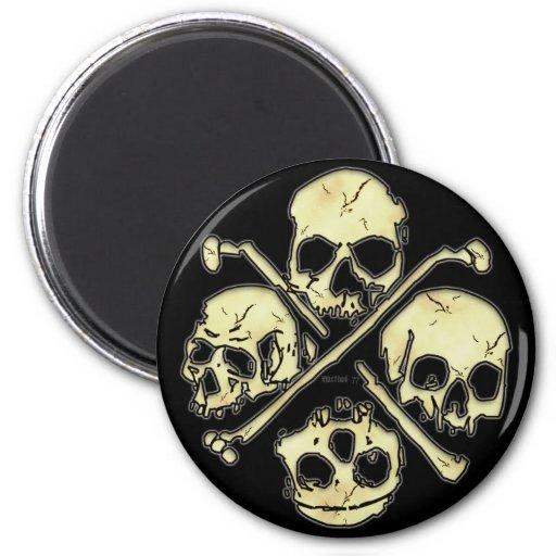 4 Schädel-Magneten Magnets