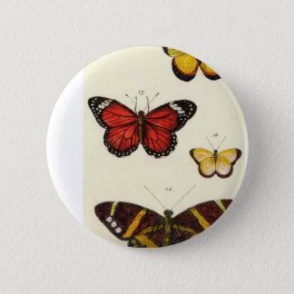 4 Schmetterlinge Runder Button 5,7 Cm