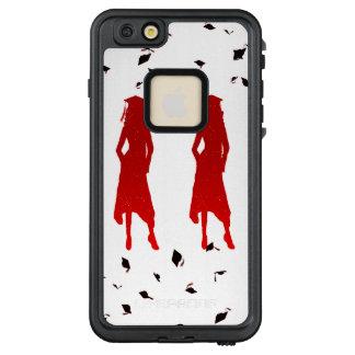 4 Spunky weiblicher Absolvent Silhouttes im hellen LifeProof FRÄ' iPhone 6/6s Plus Hülle