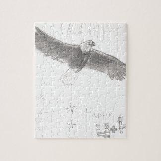 4' Th des kahlen Adlers Juli-Feuerwerke, der Puzzle