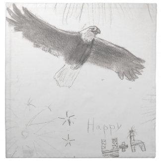 4' Th des kahlen Adlers Juli-Feuerwerke, der Stoffserviette