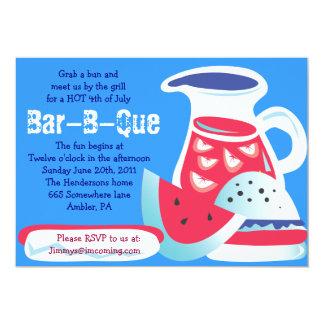 4. Von der JULI Bar-b-Que Sommer-Party Einladung