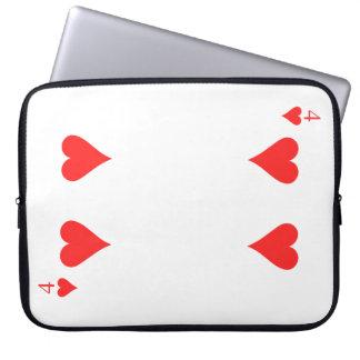 4 von Herzen Laptop Sleeve