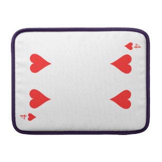 4 von Herzen MacBook Sleeve