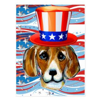 4. von Juli-Beagle Postkarten