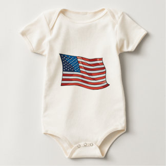 4. von Juli-Feuerwerken Baby Strampler
