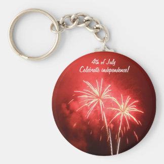 4. von Juli-Feuerwerken Schlüsselanhänger