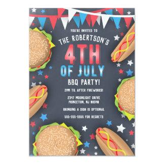 4. von Juli-GRILLEN Party Einladung