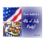 4. von Juli-Party Einladung, -burgern u. -flagge