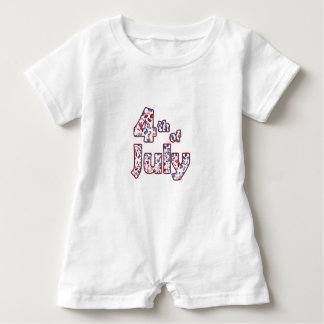 4. von Juli-Unabhängigkeitstag Baby Strampler