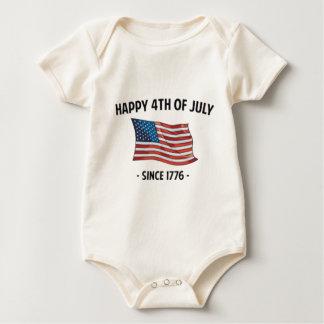 4. von Juli-Zitaten Baby Strampler