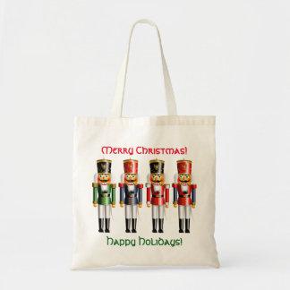 4 Weihnachtsnussknacker-Spielzeug-Soldaten Tragetasche