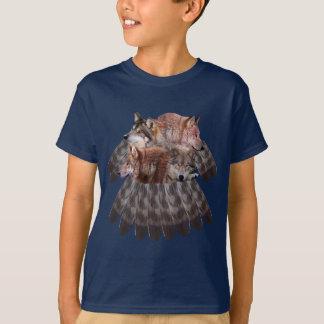 4 Wölfe dreamcatcher Jugend-T - Shirt