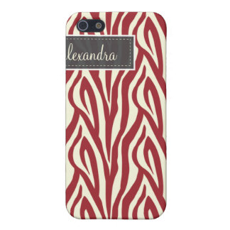 4 Zebra Pern (rot) iPhone 5 Cover
