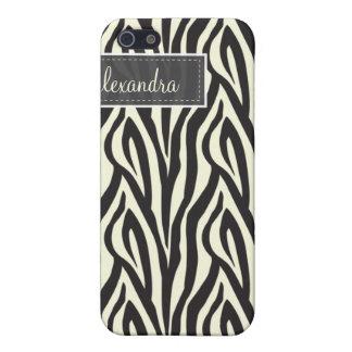 4 Zebra Pern (Schwarzes) Etui Fürs iPhone 5